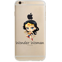 "Wonder Woman Jelly Clear Case for Apple iPhone 6/6s PLUS (5.5"")"