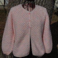 Hand Knit Cardigan Jacket Sweater Short Coat