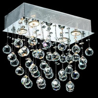Bernadette - Flush Mount (4 Light Contemporary Flush Mount Crystal Chandelier) - 1718F16