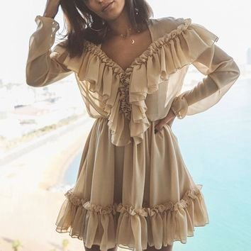 Jolyn Ruffle Boho Dress