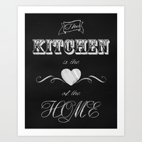 Chalkboard art for the kitchen Art Print by Glimmersmith