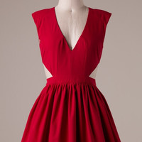 Red Cutout Party Dress