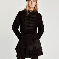 SHORT JACKET WITH TOGGLES