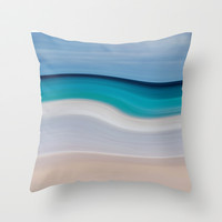 WAVESCAPE Throw Pillow by catspaws