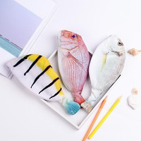 Creative student stationery simulation sea fish pencil bag creative personality fish - shaped fun students stationery bag