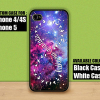 Hakuna Matata Infity Galaxy Fox Fur Nebula - iPhone 4 / 4s or iPhone 5 Case - Leave message for  Black or White Case