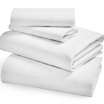 12 Pack TWIN SIZE WHITE 39X80+12 FITTED SHEET T-200 HOTEL GRADE