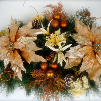 "Christmas Centerpiece  - ""Natural Beauty"", Pine Table Centerpiece, Christmas, Winter Arrangement, Home Decor, Table Decor,"