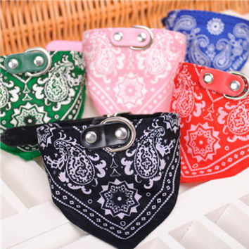 Dog Bandana Scarf Collar Pet Cat Puppy Collars Harness Leash Fashion Dog Necklaces Pet Supplies For Small Dogs Cats