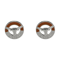 Texas Longhorns Two-Tone Post Earrings