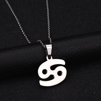 Stainless Steel Zodiac Sign Pendant