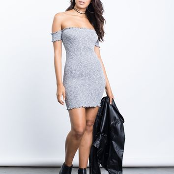 Knitted Frills Mini Dress