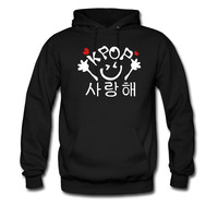 Love KPOP in Korean saying hoodie sweatshirt tshirt