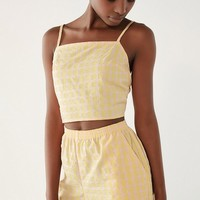 Urban Renewal Remnants Checkered Pull-On Short   Urban Outfitters