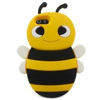 Lovely Yellow 3D Bee Shape Soft Silicone Gel Back Case