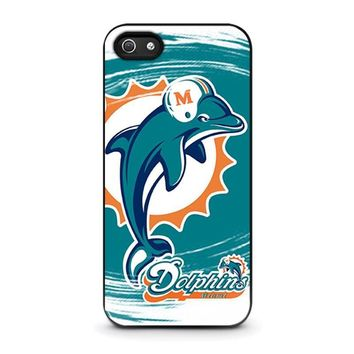 miami dolphins iphone 5 5s se case cover  number 1