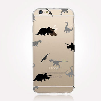 Transparent Dinosaurus iPhone Case- Transparent Case - Clear Case - Transparent iPhone 6 - Transparent iPhone 5 - Transparent iPhone 4