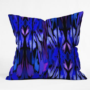 Holly Sharpe Indigo Fever Throw Pillow