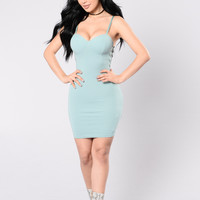 Too Cute For You Dress - Seafoam