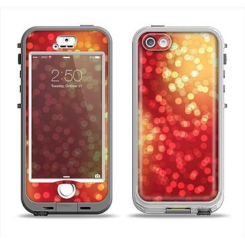 The Red and Yellow Glistening Orbs Apple iPhone 5-5s LifeProof Nuud Case Skin Set