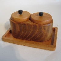 Natural Wood Spice Stand made from Japanese Timber