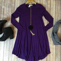The Madeline dress in purple
