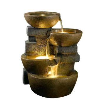 Fountain Cellar Pots Water Fountain with LED Light-FCL037 - The Home Depot