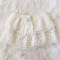 Lace Layered Tube Top (White)