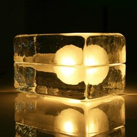Ice Block Cube Table Lamp Glass Desk Light Night Lamp Modern Home Decor
