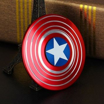 IN INDIA Captain America Shield 2-WAY Illusion Fidget Spinner
