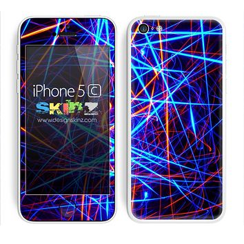 Neon Strobe Lights Skin For The iPhone 5c