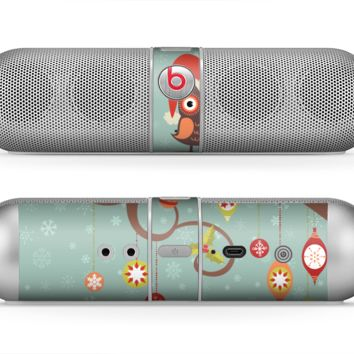 The Retro Christmas Owls with Ornaments Skin for the Beats by Dre Pill Bluetooth Speaker