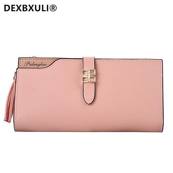 DEXBXULI Long Wallet for Ladies Large capacity multi-functional multi-card holder Cute wallet Fashion purse for women B2006-1