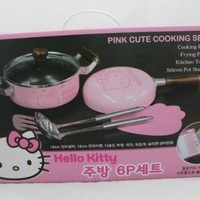 Imported Sanrio Hello Kitty 6 Pcs. kitchen Cookware Set - POT / LADLE / PAN