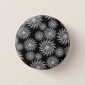 Abstract spinning stars energetic pattern button 2