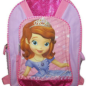 "Disney Princess Sofia The First Glitter 16"" Backpack"
