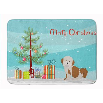 Havanese Christmas Tree Machine Washable Memory Foam Mat CK3458RUG