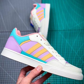 Adidas COURT80S men and women tennis sneakers  pink purple blue Macaron