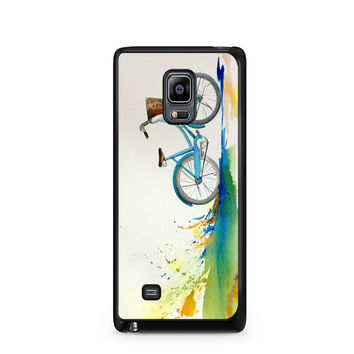 Watercolor bicycle colorful landscape Note Edge Case