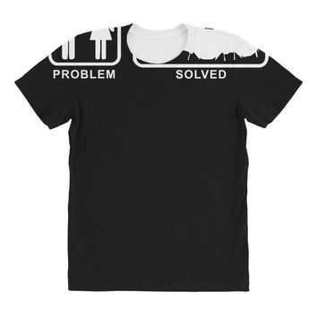 Drums - Problem Solved - Mens Funny All Over Women's T-shirt