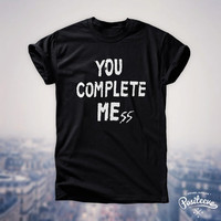 You Complete Mess Me five 5 seconds of summer luke hemmings 5sos t-shirt top unisex by Positeeve