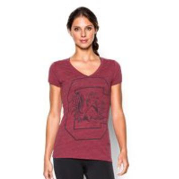 Under Armour Women's UA Charged Cotton Tri-Blend South Carolina V-Neck
