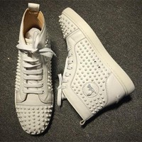 Cl Christian Louboutin Louis Spikes Style #1863 Sneakers Fashion Shoes