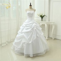Wedding Gown A line  Applique Sequins Sweetheart White Ivory Wedding Dresses