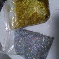10g/bag Diamond Holographic Glitter Ultra Fine .008, Silver and gold rainbow glitter, loose glitter,UV gel nail glitters LB1001
