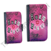 Mean Girls inpsired iphone 4 case iphone 5 case or Samsung Galaxy S3 leather wallet case book style cover Burn Book