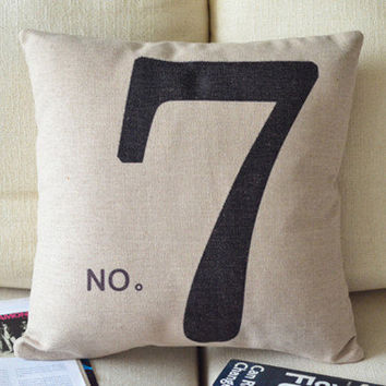 Lucky 7 Decorative Pillow [064] : Cozyhere