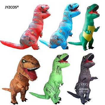 JYZCOS Inflatable T-Rex Dinosaur Costumes for Adult Kids Unisex Blow UP Christmas Party Cosplay Purim Mascot Halloween Fancy Dre