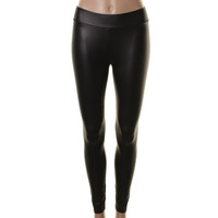 Guess Womens Faux Leather Flat Front Leggings
