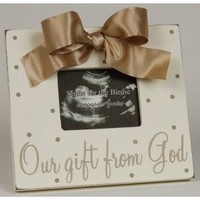 Smile for the Birdie Our Gift from God Sonogram Frame (Taupe)